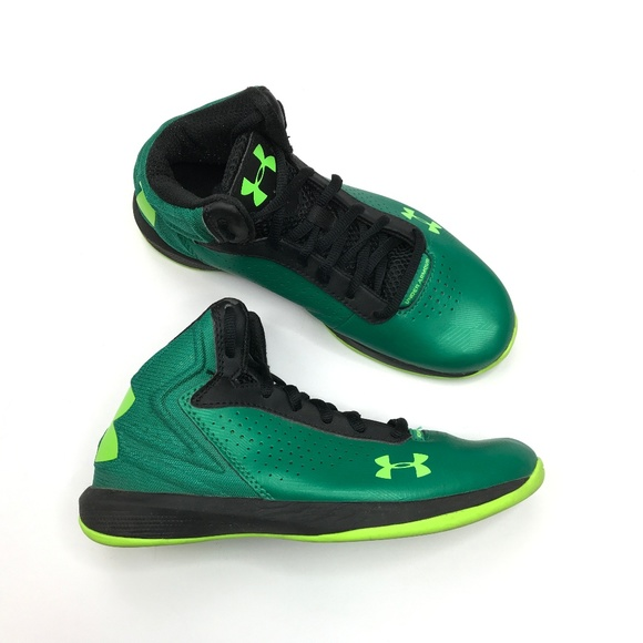 Under Armour Other - Under Armor high tops kids boys green yellow